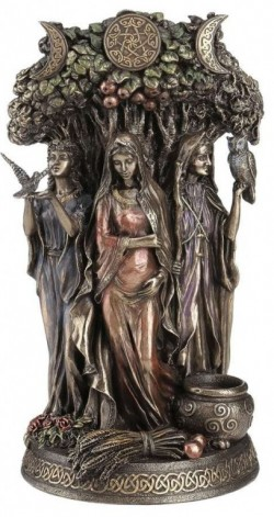 Picture of Maiden Mother and Crone Bronze Figurine 27cm Pagan Goddess