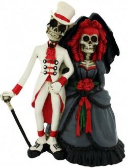 Picture of Steampunk Skeleton Wedding Figurine 14cm