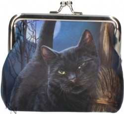 Picture of A Brush With Magick Black Cat Coin Purse (Lisa Parker)