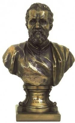 Picture of Michelangelo Bronze Figurine Bust