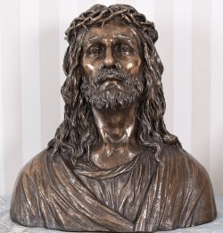 Picture of The Lord Jesus Christ Bronze Bust LARGE 43cm