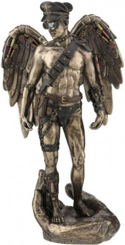 Picture of Steampunk Angelic Guardian Bronze Figurine 30cm