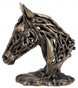 Picture of Endurance Horse Head Contemporary Bronze Figurine LARGE 35 cm