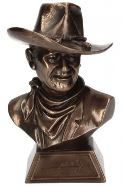 Picture of John Wayne (Licensed) Bronze Cowboy Bust 17cm with Certificate