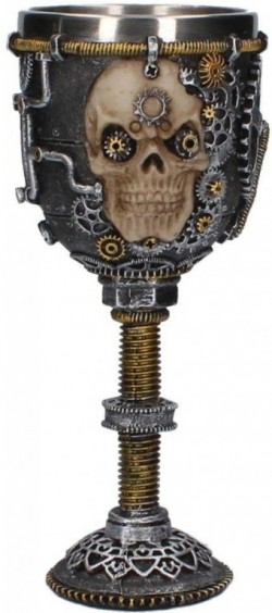 Picture of Steampunk Skull Goblet 18.5cm