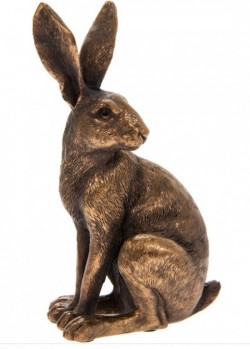 Picture of Hare Sitting Bronze Figurine Leonardo Collection 15cm