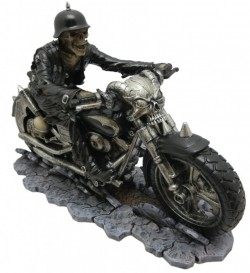 Picture of Hell on the Highway Skeleton Biker Figurine James Ryman