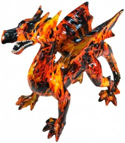 Picture of Flame Dragon Statue 31cm