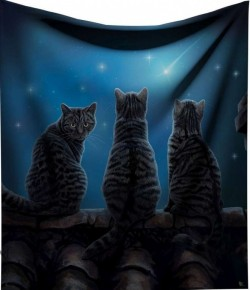 Picture of Wish Upon A Star Throw Three Cats (Lisa Parker) 160cm LARGE