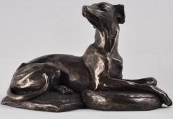 Picture of Resting Whippet Dog Bronze Sculpture 13cm (Harriet Glen)