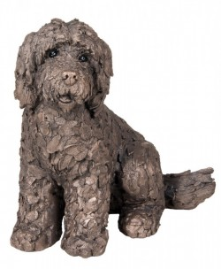 Picture of Lucy the Cockapoo Sitting Bronze Sculpture (Frith) 20 cm