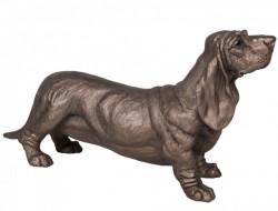 Picture of Dudley Basset Hound Dog Bronze Sculpture Harriet Dunn 31cm