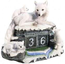 Picture of Mothers Watch Calendar Wolf and Cubs Figurine