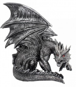 Picture of Draxus Black Dragon Figurine 25 cm