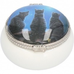 Picture of Wish Upon a Star Cats Small Trinket Box (Lisa Parker) 5.5cm