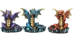 Picture of Three Wise Dragons (Set of 3) Small Dragon Ornaments