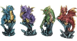 Picture of Dragonling Brood (Set of 4) Small Dragon Ornaments