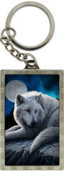 Picture of Guardian of The North Wolf 3d Keyring (Lisa Parker)