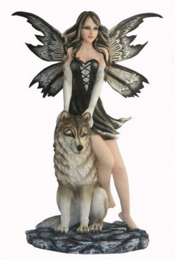 Picture of Rukia and the Wolf Fairy Statue Large 50cm