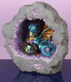 Picture of Blue Mystic Legends Dragon in Cave Light Feature (Juliana)