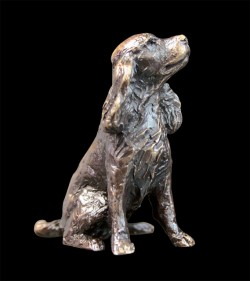 Picture of Spaniel Sitting Bronze Miniature (Butler and Peach)