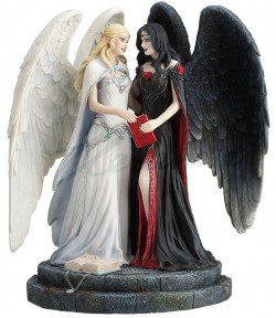 Picture of Dark and Light Angel Figurine (James Ryman)