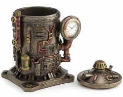Picture of Time Displacement Capsule Clock and Pen Pot Figurine