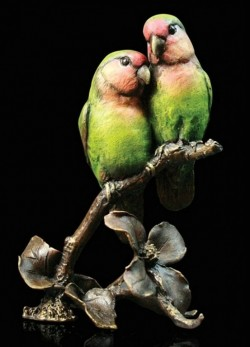Picture of Lovebirds Bronze Figurine with Wooden Presentation Box (Limited Edition) Keith Sherwin NEW