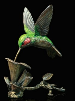Picture of Hummingbird Bronze Figurine with Wooden Presentation Box (Limited Edition) Keith Sherwin NEW