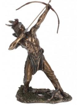 Picture of Native American Hunter Bronze Figurine 32cm