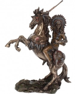 Picture of War Cry Bronze Figurine 33 cm