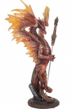 Picture of Fire Dragon Figurine Letter Opener Ruth Thompson 29 cm