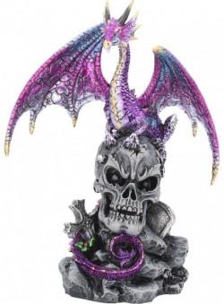 Picture of Purple Dragon on Skull Figurine Alator 23cm