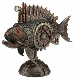 Picture of Steampunk Piranha Explorer Submarine 31 cm Light Beam Feature