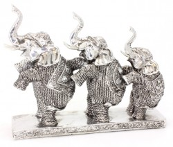 Picture of Three Elephants Silver Art Leonardo Collection 28 cm