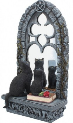 Picture of Familiar Reflection Cats Figurine Mirror LARGE 36 cm