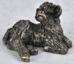 Picture of Calf Resting Bronze Sculpture