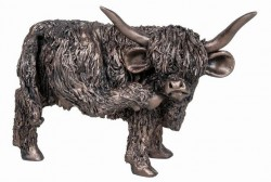 Picture of Highland Cow Scratching Bronze Sculpture