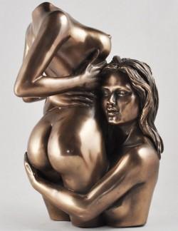 Picture of Desire Nude Female Lovers Bronze Figurine (Love is Blue) 20 cm