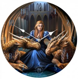 Picture of Fierce Loyalty Dragons Clock 34 cm (Anne Stokes)