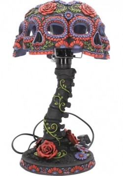 Picture of Night Blooms Skull Lamp