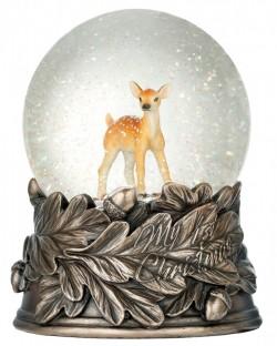 Picture of Reindeer Bronze Snow Globe BEST SELLER