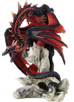 Picture of Bloodfire Dragon Figurine (Andrew Bill) 21 cm