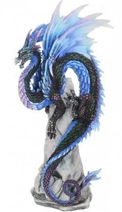 Picture of Sapphire Sentinel Dragon Figurine (Andrew Bill) 27 cm