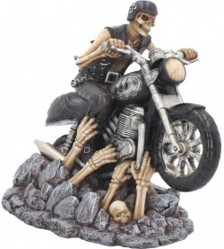 Picture of Ride out of Hell Skeleton Biker Figurine James Ryman 18cm
