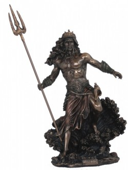 Picture of Poseidon God of the Sea Bronze Statue 50cm LARGE