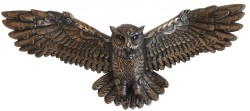 Picture of Steampunk Owl in Flight Bronze Wall Plaque LARGE 55 cm