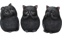 Picture of Three Wise Cats Figurines (Set of 3)