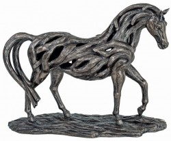 Picture of Assured Contemporary Bronze Horse Figurine LARGE 46 cm