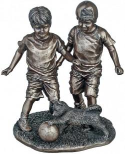 Picture of Footballers Bronze Figurine